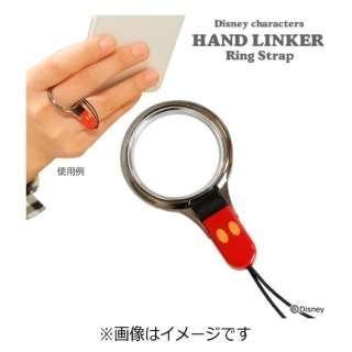 〔フィンガーストラップ〕 HandLinker ベアリングストラップ 「ディズニー」(ミッキー)