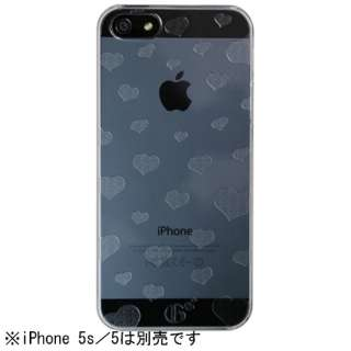 iPhone 5s/5用 Highend Berry ランダムハート ハードケース (クリア)