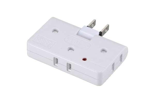 電源タップのおすすめ オーム電機 HSA1967W(3個口)