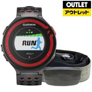 【アウトレット品】 GPSマルチスポーツウオッチ(日本正規版) ForeAthlete220Jセット(ハートレートセンサー同梱) 114765 Black/Red 【生産完了品】