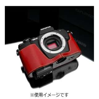 本革カメラケース 【オリンパス OM-D E-M10用】(レッド) XS-CHEM10R