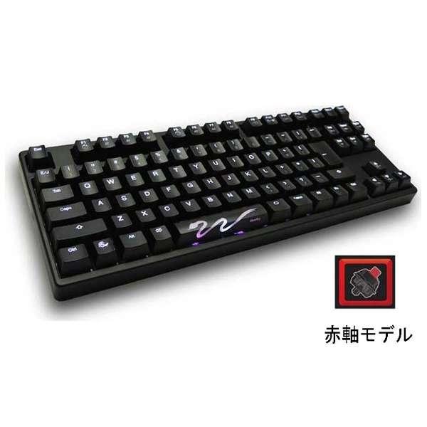 DK9087S3-RJNALAAW1 キーボード LED Backlit Tenkeyless Mechanical Keyboard CHERRY MX 赤軸 Shine3 [USB /コード ]