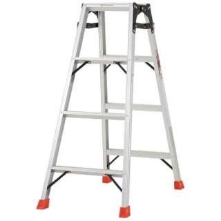 はしご兼用脚立 アルミ合金製・脚カバー付 高さ1.11m THK120