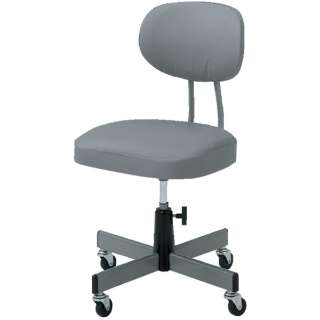 事務椅子 ビニールレザー張り グレー T80