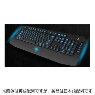 KB-VEL-MBBLJP-01 ゲーミングキーボード CHALLENGER GO Tt eSPORTS ブラック [USB /コード ]