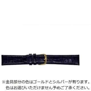 BEAR時計バンド 革(22-18mm・カーフ型押し・紺) 1301622