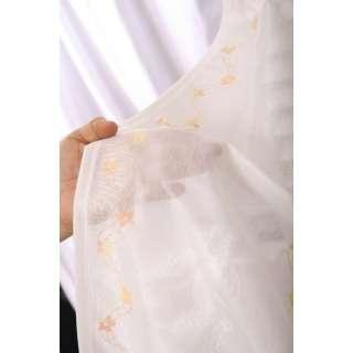 レースカーテン アトラス(100×133cm/オレンジ)