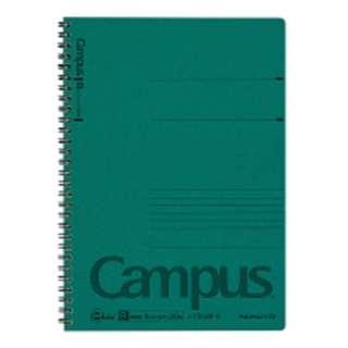 キャンパス ツインリングノート B5 色厚表紙 A罫 50枚 ス-T200B-G 緑