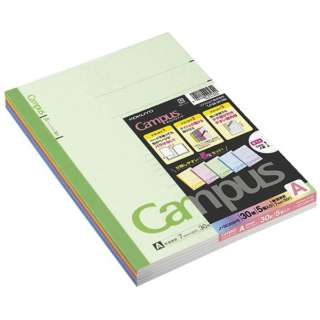 キャンパスノート(カラー表紙)5色パック(普通横罫中横罫) ノ-3CANX5