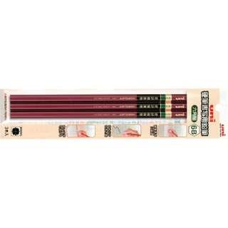 [鉛筆] 硬筆書写用鉛筆 (硬度:6B、軸型:六角形) 3本パック UKS6K3P6B