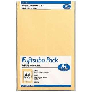 [封筒] クラフト封筒 角形2号 10枚 PK-2