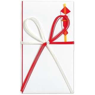 [祝儀袋] 赤白5本花結 字なし 1枚 キ-106