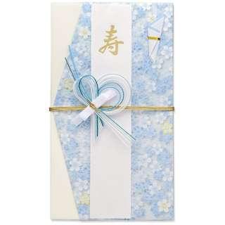 [祝儀袋] hana 洋風 ブルー 1枚 キ-598B