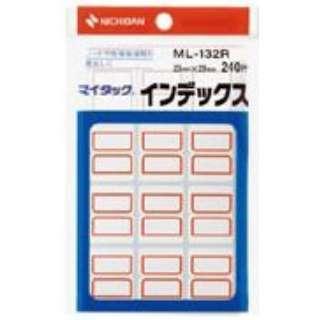 カラーラベル インデックス マイタック 赤枠 ML-132R [20シート /12面]