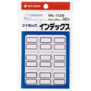 カラーラベル インデックス マイタック 青枠 ML-132B [20シート /12面]