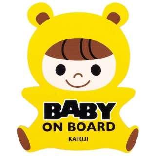 カープレート baby(イエロー)