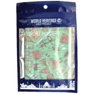 WORLD HELITAGE パスポートホルダ グリーン