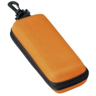 ウレタン セミハード ファスナー式 メガネケース(オレンジ)2281-05
