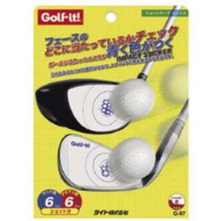 ゴルフ ショットチェック用品 ショットマーク ミックス(ウッド×6&アイアン×6ショット分)