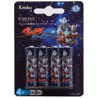 LR6KA-U/4B 単3電池 ENERG(エネルグ) ウルトラヒーロー [4本 /アルカリ]