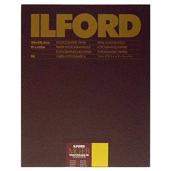 イルフォード マルチグレード FB ウォームトーン 24K Semi-Matt無光沢 9.5X12in 10枚入 BX 10枚 無光沢