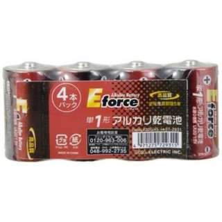 アルカリ乾電池 E force 単1形[4本] OHMLR20G/4S [アルカリ]