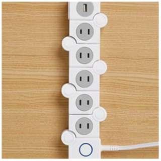 電源タップ イージーキュービックタップ (USB 1ポート・5個口・2.0m・ホワイト) CJT-02