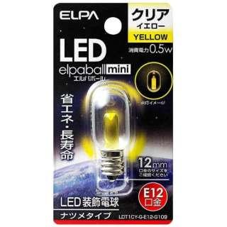 LDT1CY-G-E12-G109 LED装飾電球 LEDエルパボールmini イエロー [E12 /黄色 /1個 /ナツメ球形]