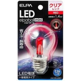 LDA1CR-G-G557 LED装飾電球 PS形 LEDエルパボールmini レッド [E26 /赤色 /1個 /一般電球形]