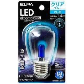 LDS1CB-G-G908 LED装飾電球 サイン球形 LEDエルパボールmini ブルー [E26 /青色 /1個]