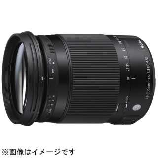 カメラレンズ 18-300mm F3.5-6.3 DC MACRO OS HSM Contemporary ブラック [ペンタックスK /ズームレンズ]