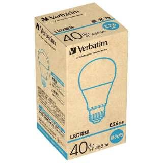 LED電球 「Verbatim」(一般電球形・全光束485lm/昼光色・口金E26) LDA7D-G/V2