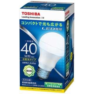 LED電球 (一般電球形[広配光タイプ]・全光束485lm/昼白色相当・口金E26) LDA4N-G-K/40W