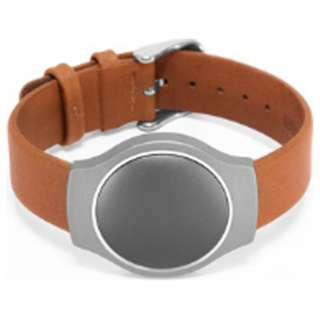 PEBBLED LEATHER BAND-TAN SB1D0