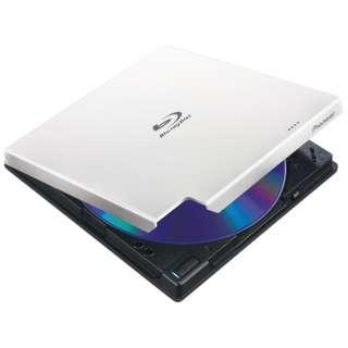 USB3.0接続 ポータブルブルーレイドライブ BDXL対応 クラムシェル型 (ホワイト) BDR-XD05W2