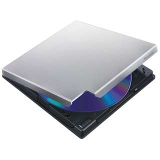 USB3.0接続 ポータブルブルーレイドライブ BDXL対応 クラムシェル型 (シルバー) BDR-XD05SV2