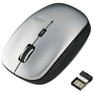 M-BL21DBSSV マウス シルバー [BlueLED /5ボタン /USB /無線(ワイヤレス)]
