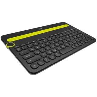 【スマホ/タブレット対応】キーボード[Android/iOS/Mac/Win/Chrome] マルチデバイス (84キー) ブラック K480BK [Bluetooth /ワイヤレス]