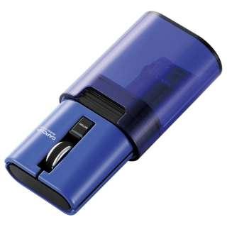 M-CC1BRBU マウス CAPCLIP ブルー [IR LED /3ボタン /Bluetooth /無線(ワイヤレス)]