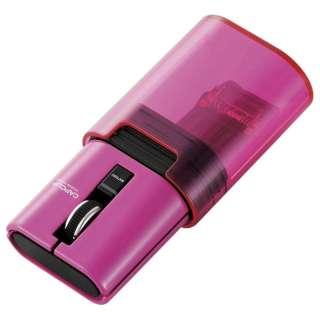 M-CC1BRPN マウス CAPCLIP ピンク [IR LED /3ボタン /Bluetooth /無線(ワイヤレス)]