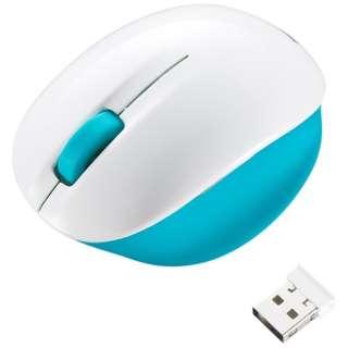 MA-WBL30WBL マウス ミントブルー&ホワイト [BlueLED /4ボタン /USB /無線(ワイヤレス)]