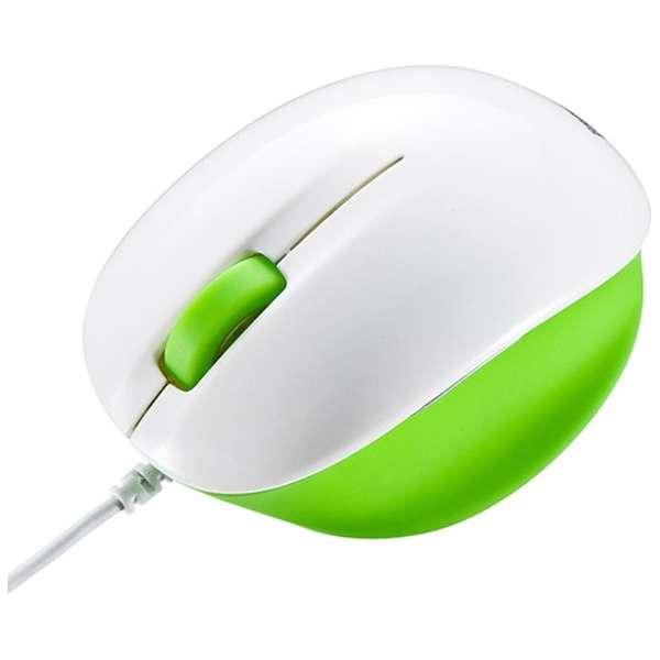 MA-BL6WG マウス ライムグリーン&ホワイト [BlueLED /4ボタン /USB /有線]
