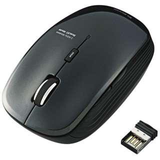 M-BL21DBSBK マウス ブラック [BlueLED /5ボタン /USB /無線(ワイヤレス)]