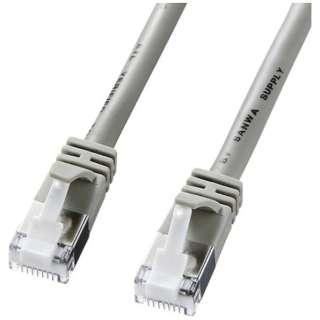 KB-STPTS-005 LANケーブル ライトグレー [0.5m /カテゴリー5e /スタンダード]