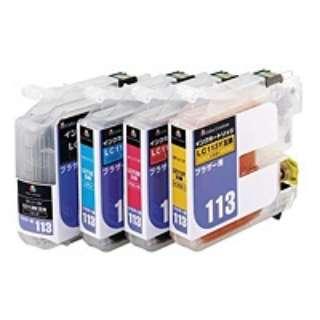 【互換】[ブラザー:LC113-4PK(4色セット)対応] 互換インクカートリッジ CIB-LC113BOX