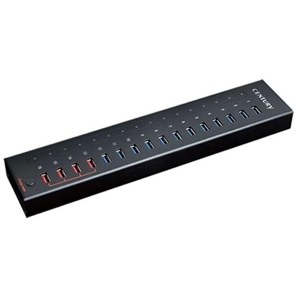 CHM-U3P16 USBハブ [USB3.0対応 /16ポート /セルフパワー]