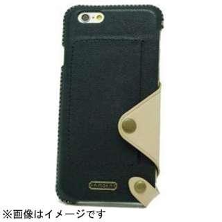 iPhone 6用 レザーケース Back Case Leather ブラック n.max.n