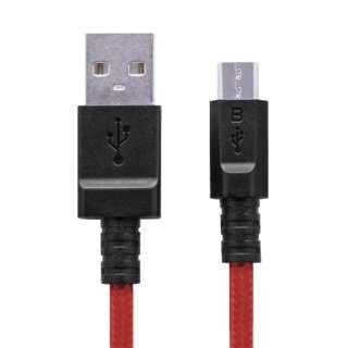 [micro USB]USBケーブル 充電・転送 2A (0.8m・レッド)MPA-AMBS2U08RD [0.8m]