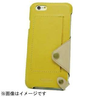 iPhone 6用 レザーケース Back Case Leather イエロー n.max.n