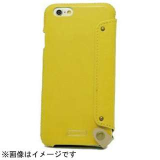 iPhone 6用 レザーケース Flip Case Leather イエロー n.max.n